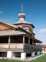 The Trinity Wooden Church on Sviyazhsk Island
