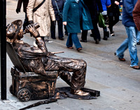 Living Statue of Drunk Cowboy London